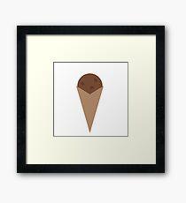 Chocolate ice cream Framed Print