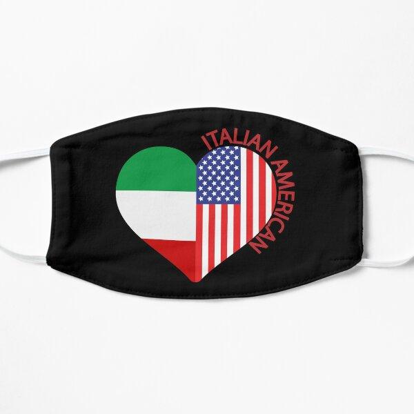 Italian American Italian Flag American Flag Heart Flat Mask