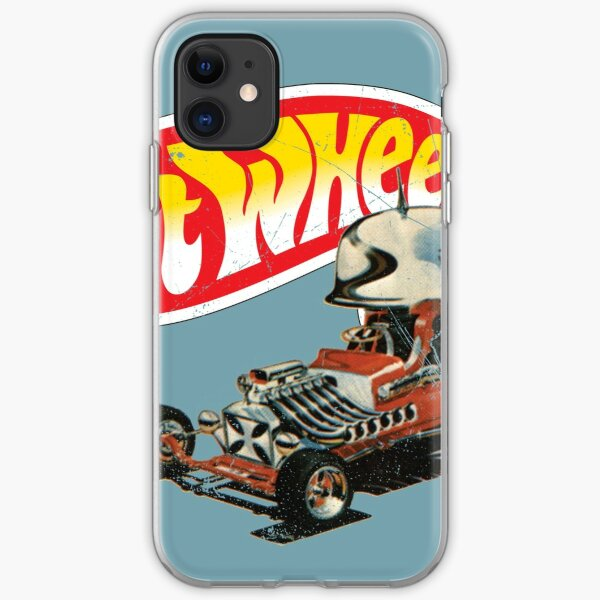 "Vintage Style Hot Wheels ""Roter Baron"" iPhone Flexible Hülle"