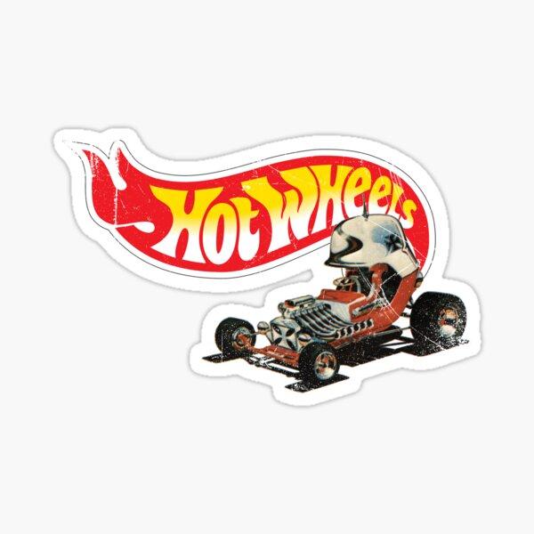 "Vintage Style Hot Wheels ""Red Baron"" Sticker"