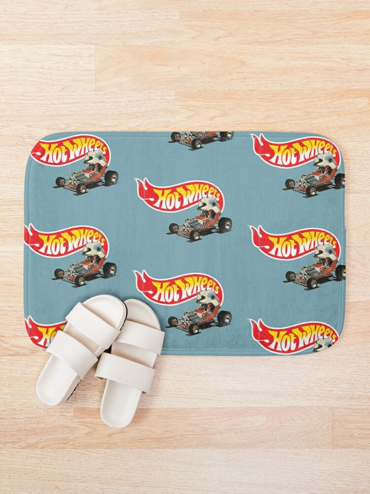 """Alternate view of Vintage Style Hot Wheels """"Red Baron"""" Bath Mat"""