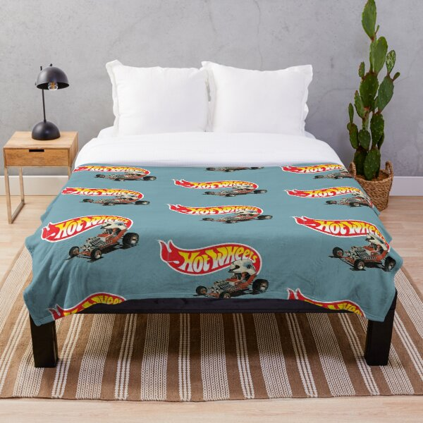 """Vintage Style Hot Wheels """"Red Baron"""" Throw Blanket"""