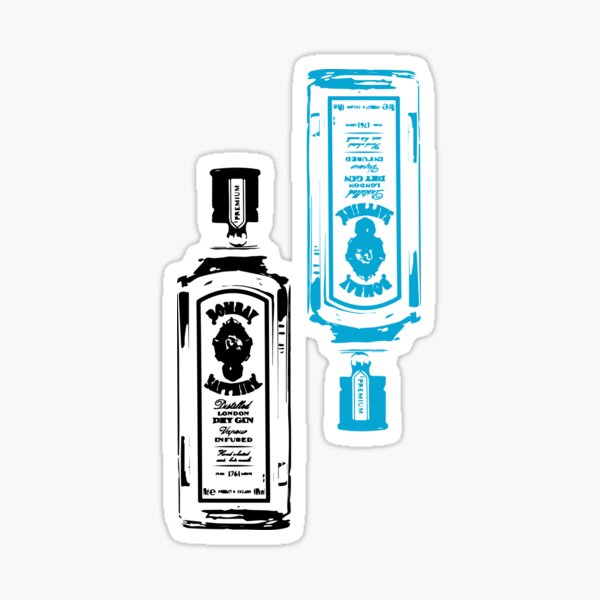 Bombay Gin Bottle Sticker