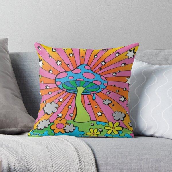 y2k mushroom aesthetic Throw Pillow