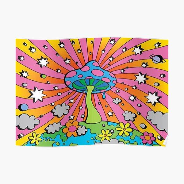 y2k mushroom aesthetic Poster