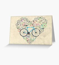 I Love My Bike Greeting Card