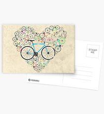 I Love My Bike Postcards