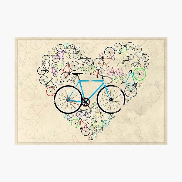 I Love My Bike Photographic Print