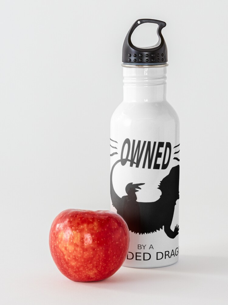 Alternate view of Owned By A Bearded Dragon Water Bottle