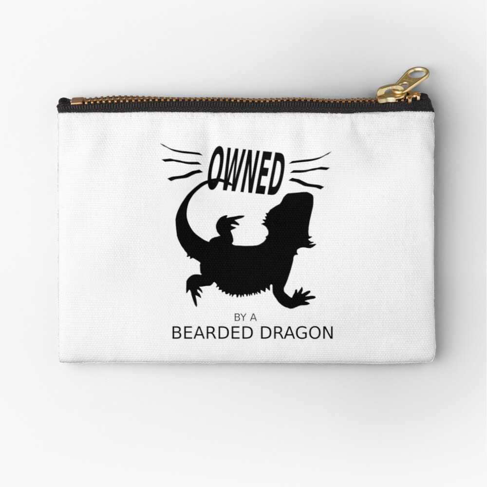 Owned By A Bearded Dragon Zipper Pouch