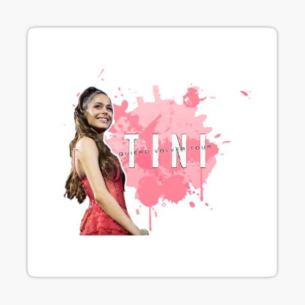 Vestido rojo TINI-Quiero Volver tour Pegatina