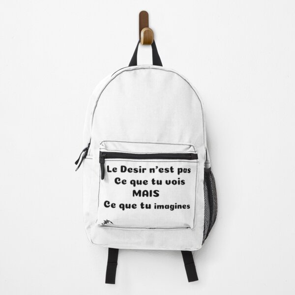 Explicit realistic T-SHIRT Desire is not what you see but what you imagine Backpack