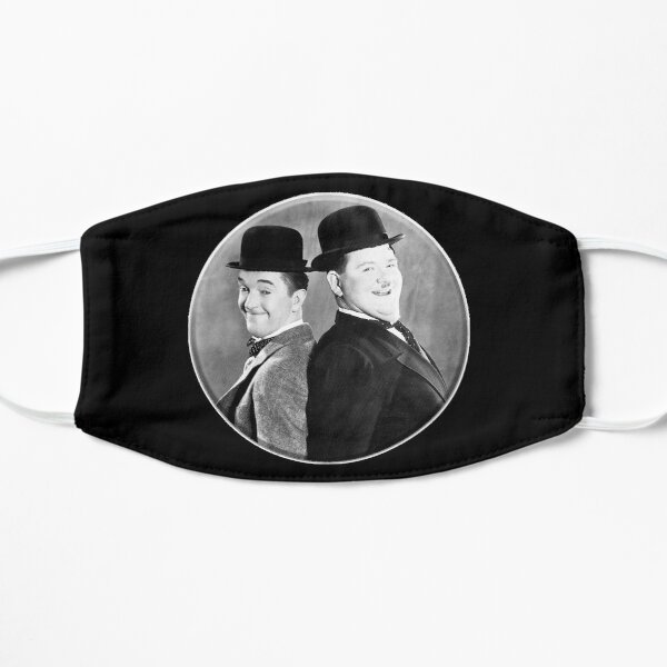 LAUREL AND HARDY. Stan Laurel and Oliver Hardy in their 1939 feature film called The Flying Deuces. Mask