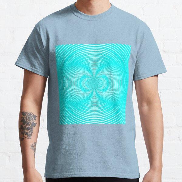 Optical illusion Red Blue Concentric Circles - концентрические круги Classic T-Shirt