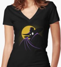 The Terror that Flaps in the Night Women's Fitted V-Neck T-Shirt