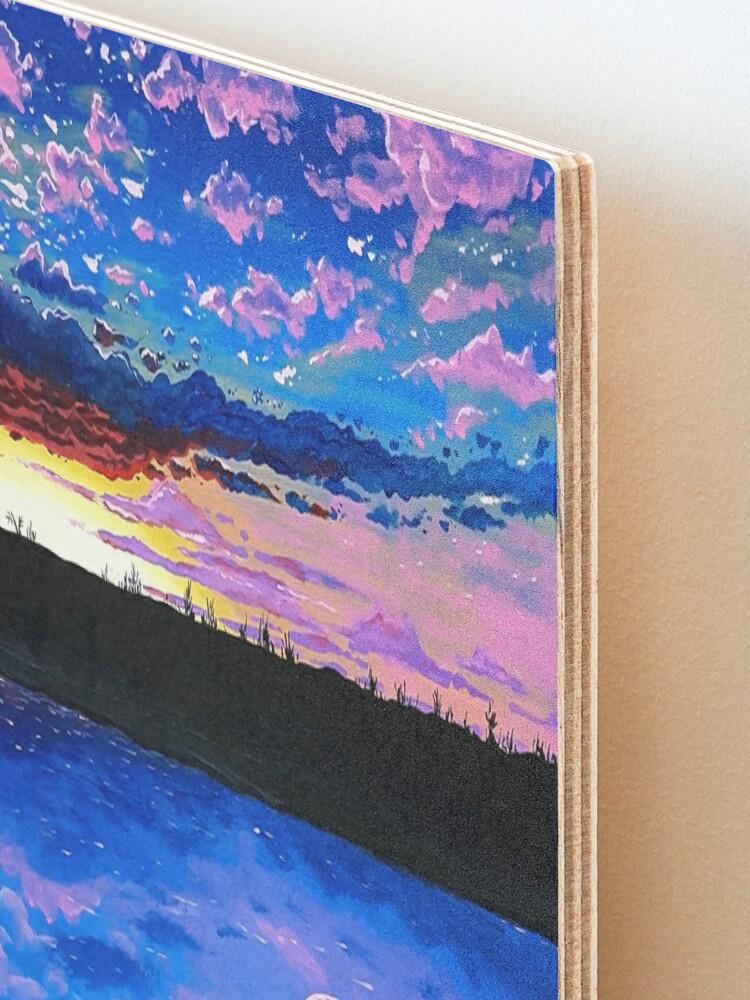 Alternate view of Sleepless Sunrise Mounted Print