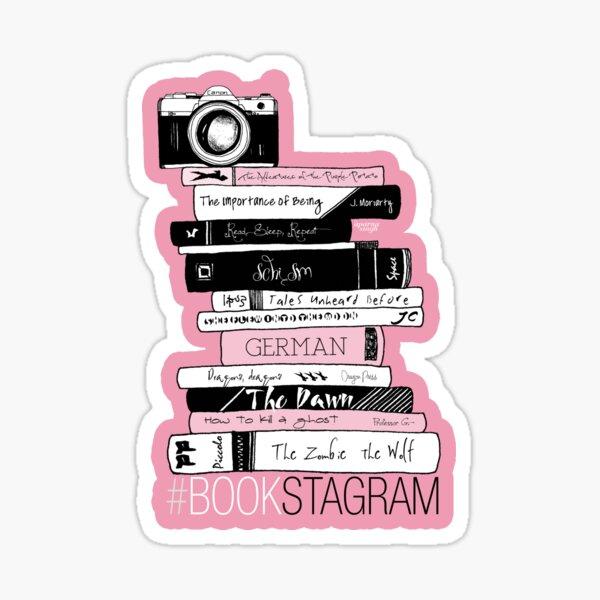 Book Photography - Bookstagram (Pink) Sticker