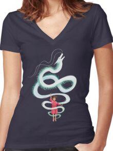 Spirit of the Kohaku River Women's Fitted V-Neck T-Shirt