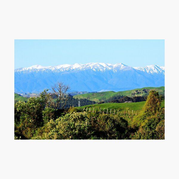 """""""The Western Ruahines, New Zealand"""" Photographic Print"""