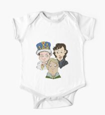 Sherlock Character Moriarty John Watson and Sherock Cartoon One Piece - Short Sleeve