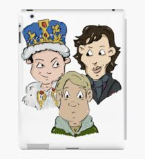Sherlock Character Moriarty John Watson and Sherock Cartoon iPad Case/Skin