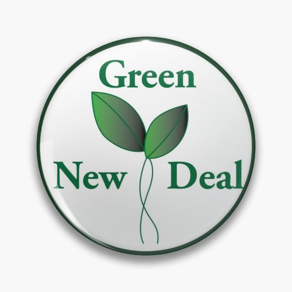 Green New Deal Pin