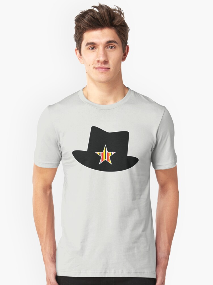 Rock hat with multicoloured star by jazzydevil
