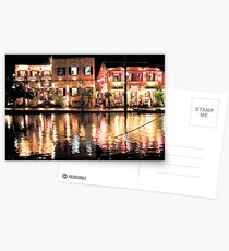 Hoi An, Vietnam, river and restaurants in soft tones Postcards