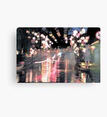 Hoi An lanterns and reflections on bridge Canvas Print