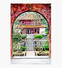 Temple through archway in Hue Photographic Print