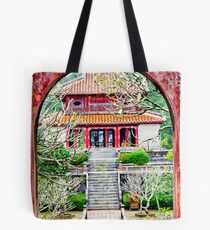 Temple through archway in Hue Tote Bag