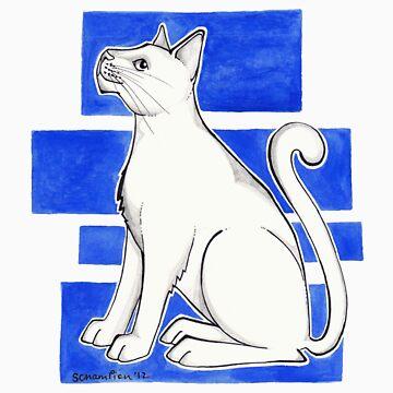 Yves Klein's Cat by sapientiae