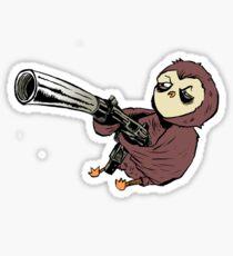 Gun Owl Sticker