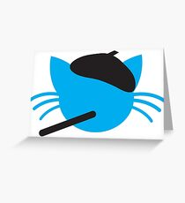 French cigarette smoking cat- Le CAT Greeting Card