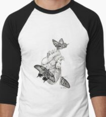 Heart Flutter Men's Baseball ¾ T-Shirt