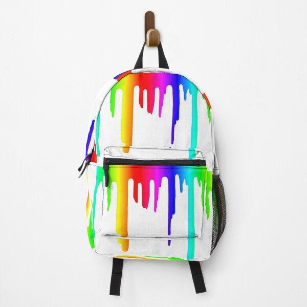 Rainbow Paint Drip  Backpack