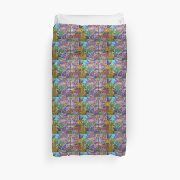 Four Corners of the Mind Duvet Cover