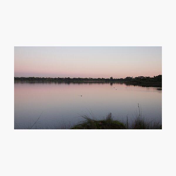 Lake at dusk 2 Photographic Print