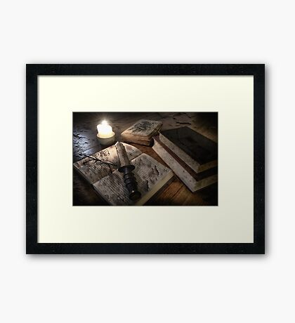 WHO DONE IT Framed Print
