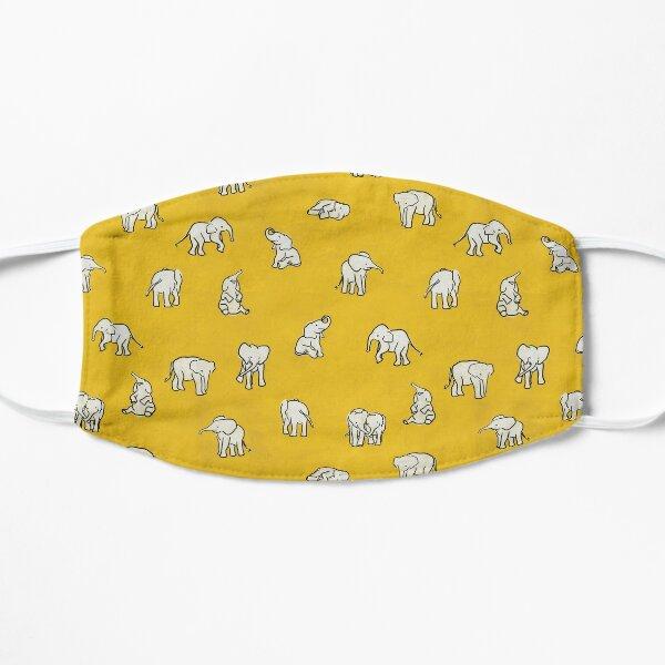 Indian Baby Elephants Yellow Pattern Flat Mask
