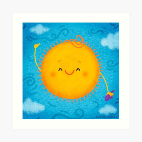 Sun Hot Hair Style Art Print