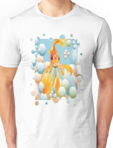Blowing Bubbles With A Cute Fantail Goldfish T-Shirt