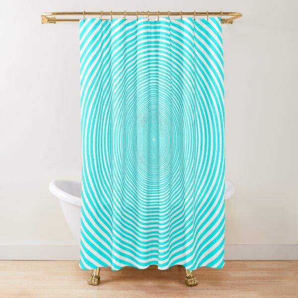 Optical illusion Concentric Circles Geometric Art - концентрические круги Shower Curtain