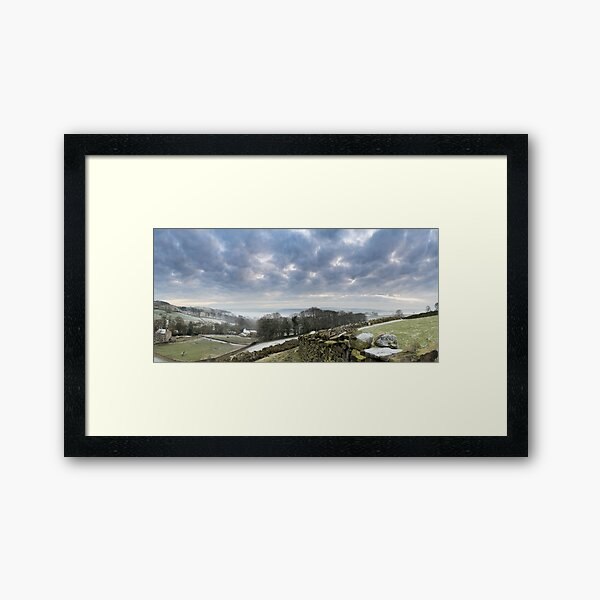 Airedale Lost in Fog from East Morton Framed Art Print