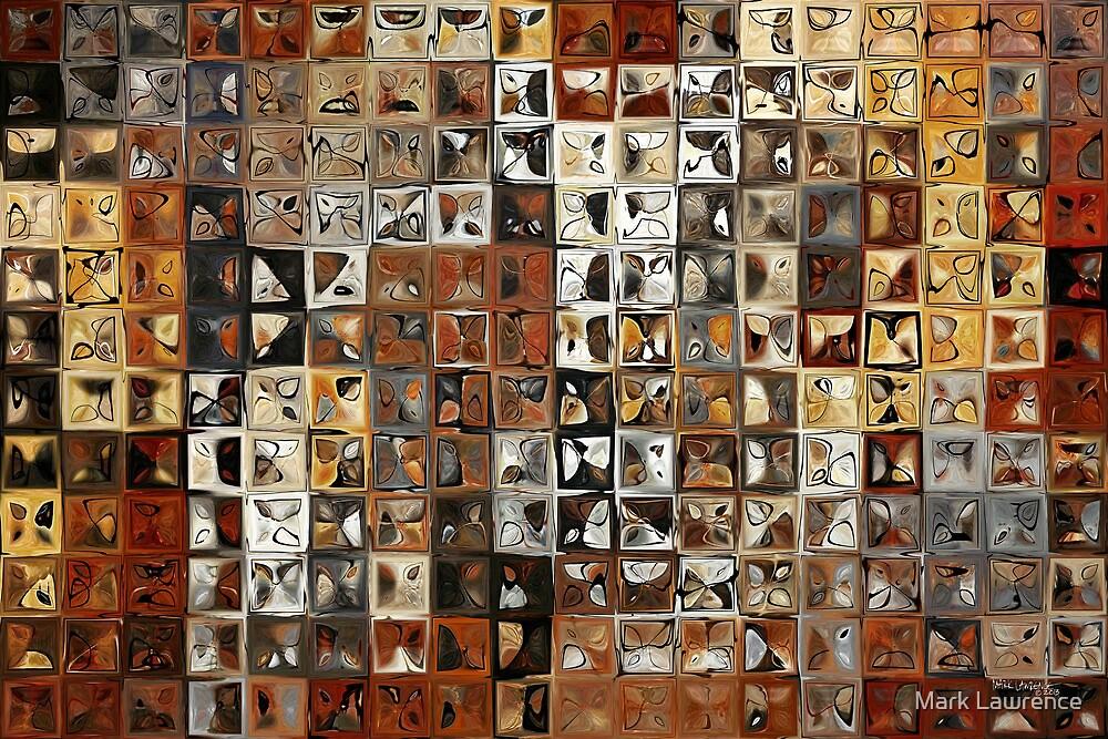 Tile Art #1, 2013. Modern Mosaic Tile Art Painting by Mark Lawrence