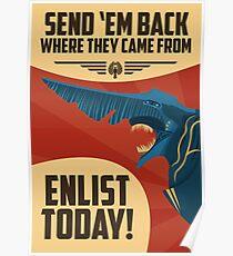 Knifehead Kaiju Propaganda Poster (Pacific Rim) Poster