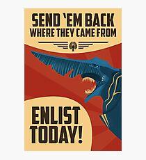 Knifehead Kaiju Propaganda Poster (Pacific Rim) Photographic Print