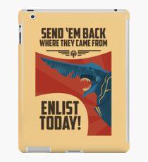 Knifehead Kaiju Propaganda Poster (Pacific Rim) iPad Case/Skin