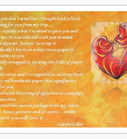 We Two Are One Prose Valentine Greeting Sticker