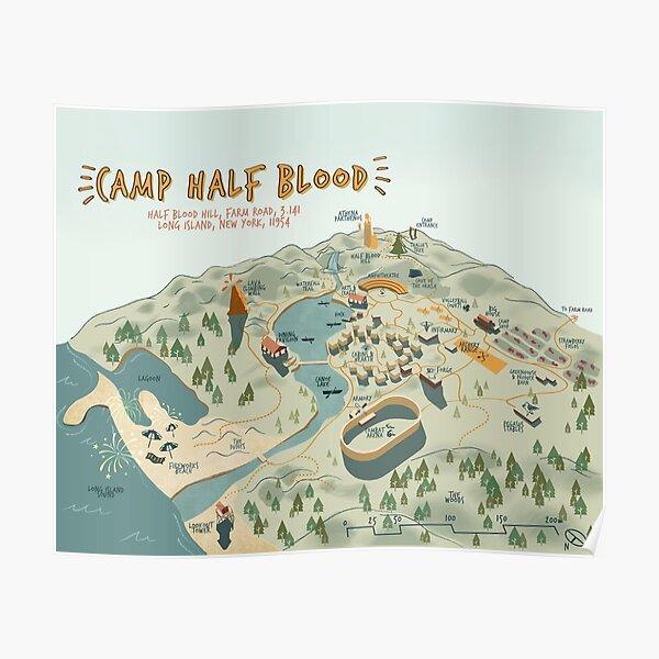 Mapa de Camp Half Blood Póster